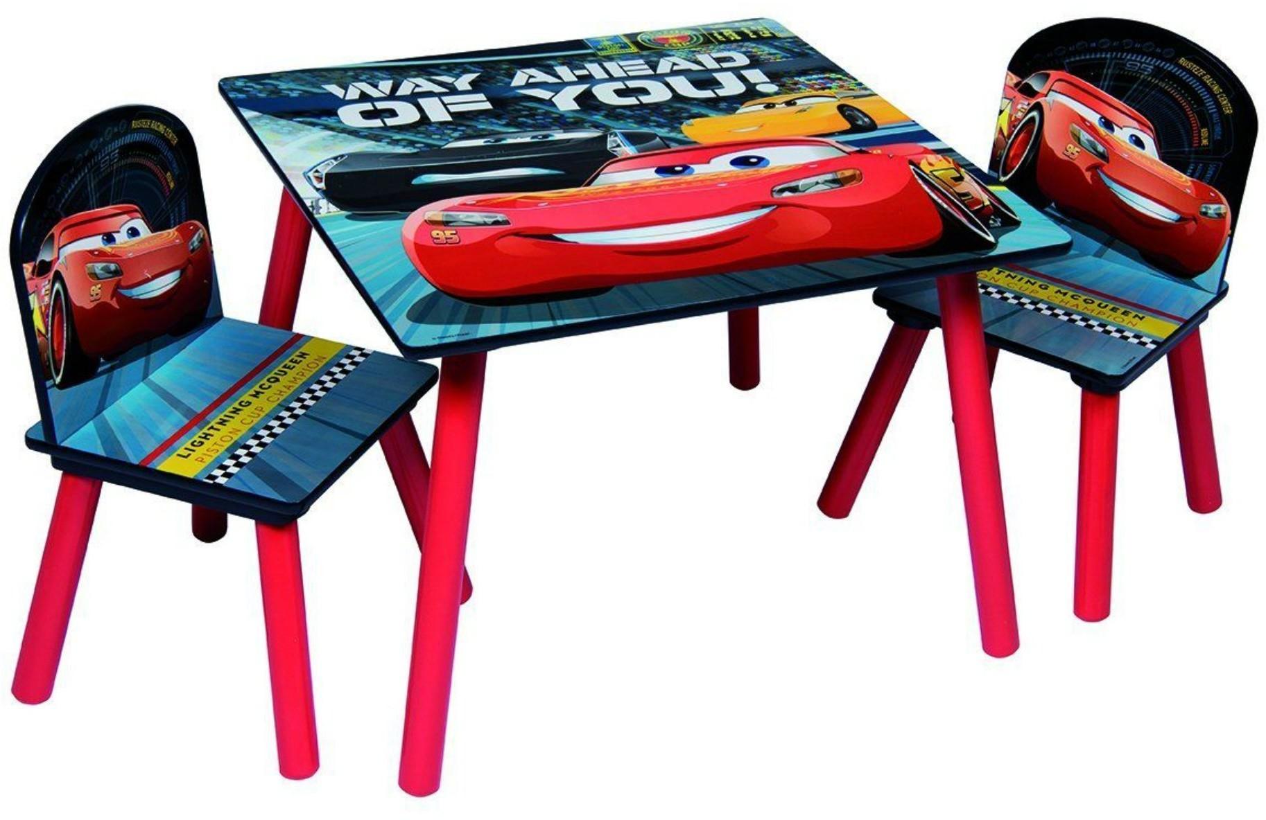 Global Zestaw stolik, krzesełka i organizer na zabawki Cars Auta 8719323842199