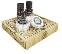 Dear Barber SET Mini Grooming M) olejek do brody 10ml + edt 10ml + wosk do wąsów 15ml + balsam do brody 15ml