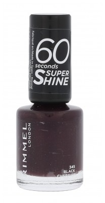 Rimmel London London 60 Seconds Super Shine lakier do paznokci 8 ml dla kobiet 345 Black Cherries
