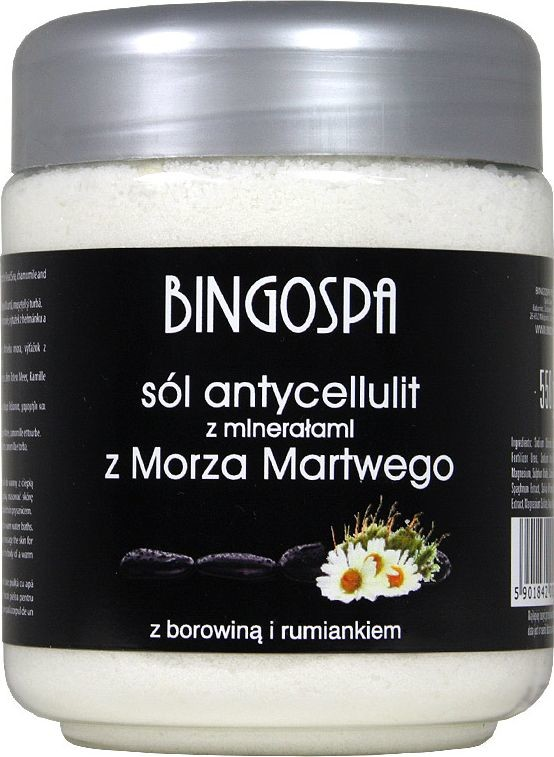 BingoSpa Sól do kąpieli z minerałami z Morza Martwego z rumiankiem i borowiną 550g 024
