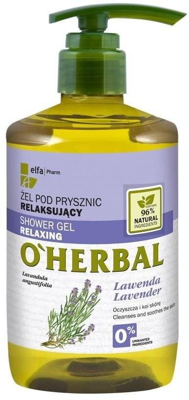 O'Herbal Shower Gel Relaxing relaksujący żel pod prysznic z ekstraktem z lawendy 750ml