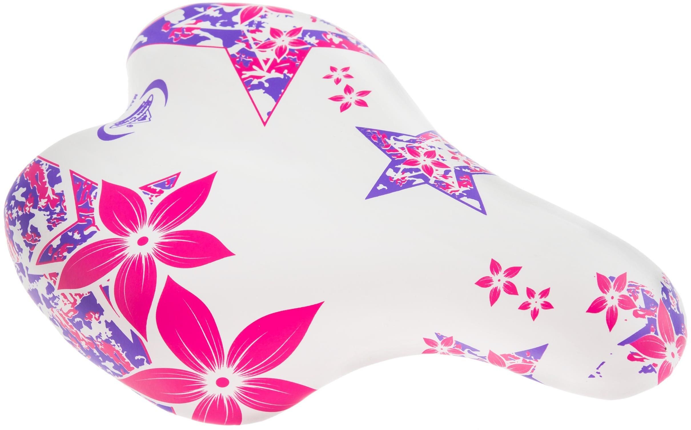 """MONTE GRAPPA Siodełko FREE GIRL bia/róż/fiol. kwiatki 12-16"""""""