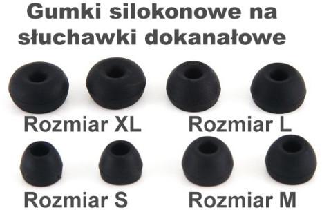 MP3store Gumki Silikonowe T400 Rozmiar S black 2012100741413162732