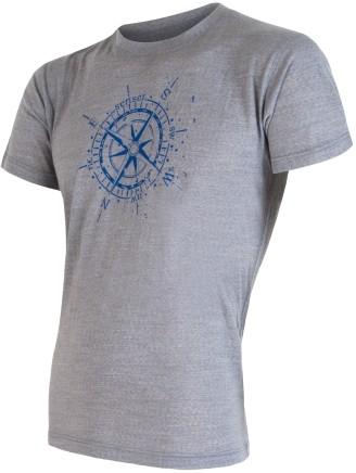 Sensor Koszulka Merino Wool Pt Kompas M Grey XXL