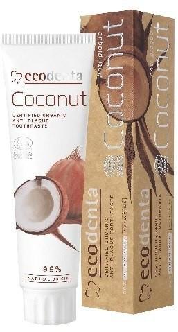 ECODENT ECODENTA Organic Pasta do zębów Coconut przeciw kamieniowi 100ml ECODENTA Organic Pasta do zębów Coconut przeciw kamieniowi 100ml