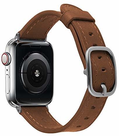 Apple Devia Skórzana bransoletka brązowa do zegarka Watch (44 mm)