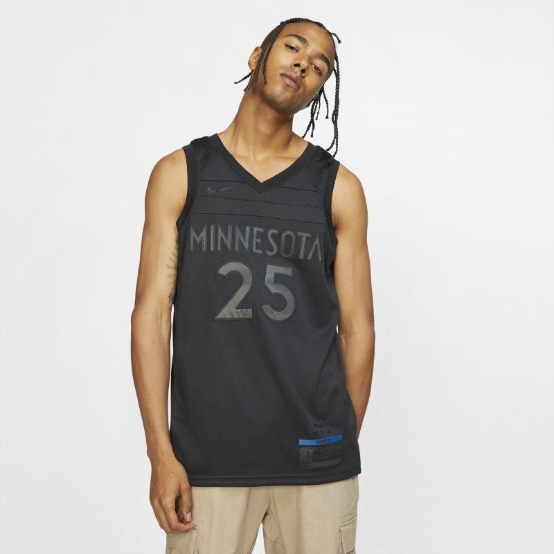 Nike Koszulka męska NBA Connected Jersey Derrick Rose MVP Swingman (Minnesota Timberwolves) - Czerń BQ5414-010