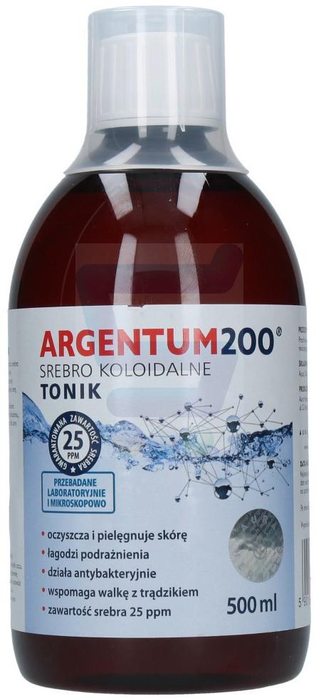 Aura Argentum200 Tonik do twarzy Srebro koloidalne 500 ml