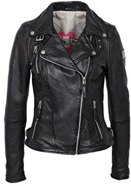Freaky Nation damska kurtka z prawdziwej skóry Biker Princess - kurtka skórzana 42 (rozmiar producenta: XL) B01GO5WAVG