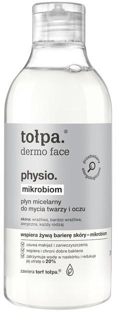 Tołpa Physio Mikrobiom Płyn micelarny do mycia twarzy i oczu XXL 400ml 47708-uniw
