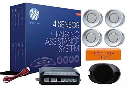M-Tech cp7s pomoc przy parkowaniu 4czujniki z głośnikiem Srebrny CP7S