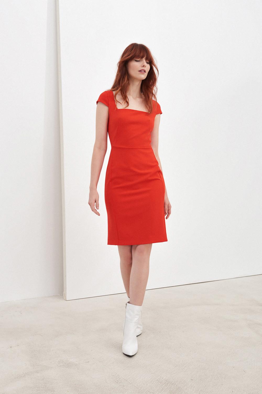 Pietro Filipi czerwony sukienka - 36 DK7008073AEA_36