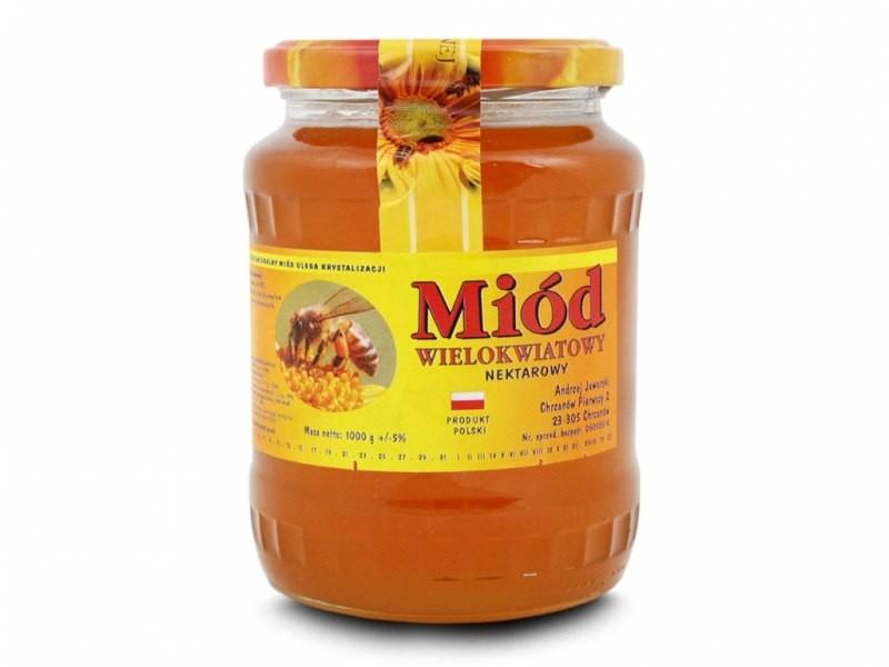 VIVIO Miód wielokwiatowy 1000g mio-wie-1kg