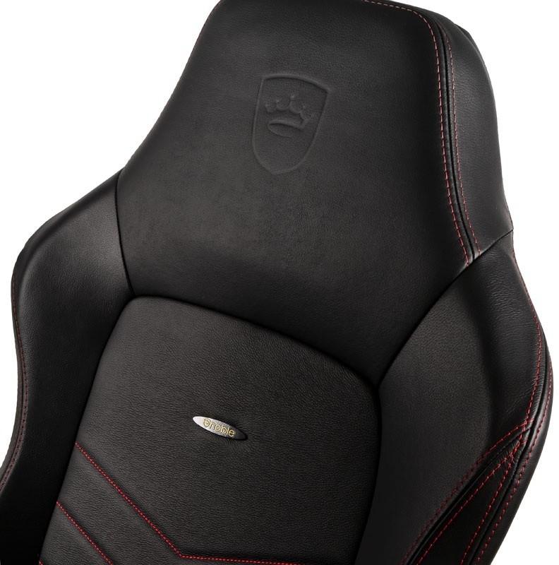 noblechairs Fotel gamingowy noblechairs HERO naturalna skóra czarny czerwone obszycie NBL-HRO-RL-BRD