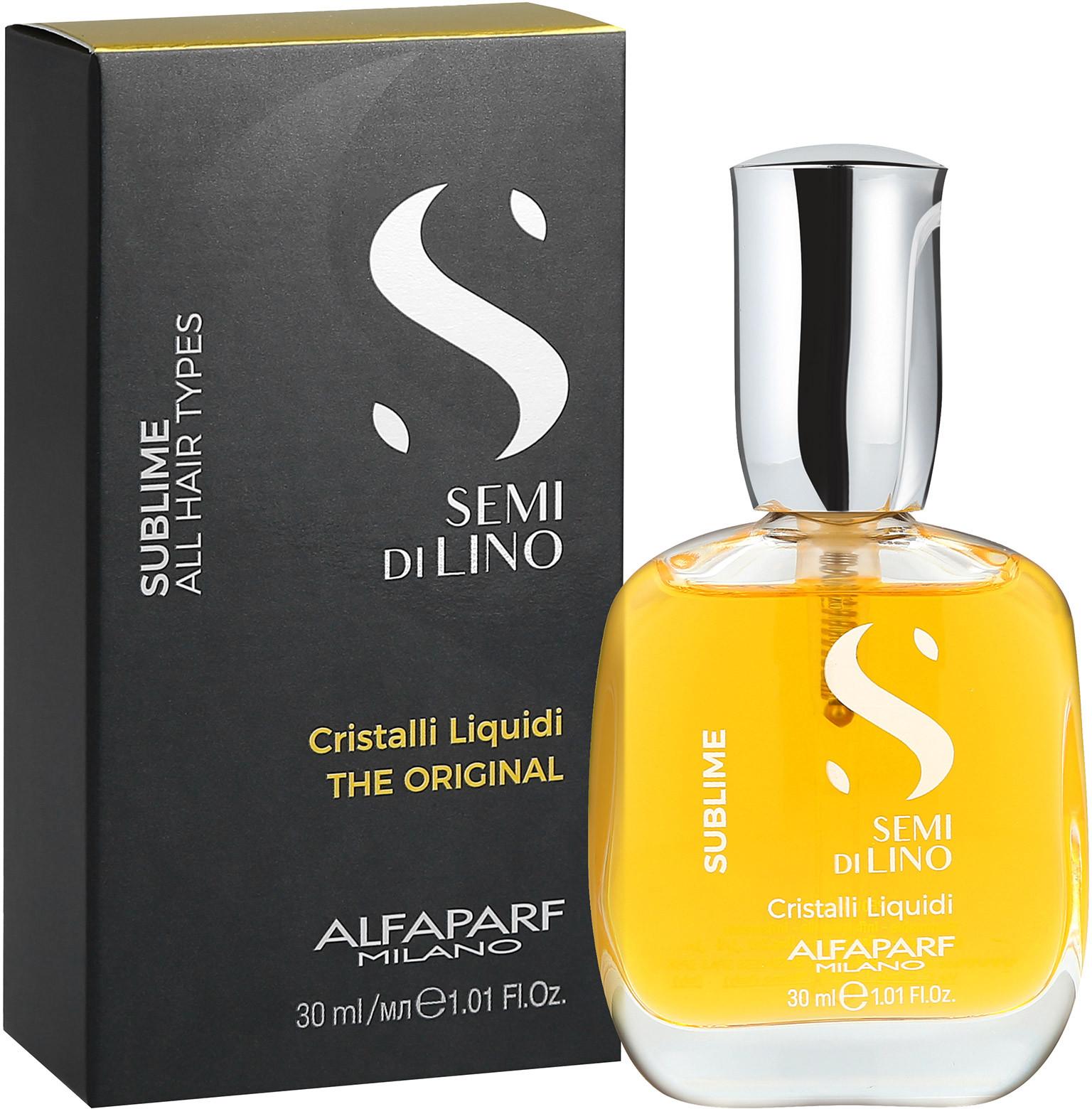 Alfaparf SEMI DI LINO SUBLIME Cristalli Liquidi Płynne kryształki do włosów 30ml 0000061273