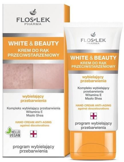 Flos-Lek Floslek White and Beauty Krem do rąk przeciwstarzeniowy wybielający przebarwienia 50ml SO_112116