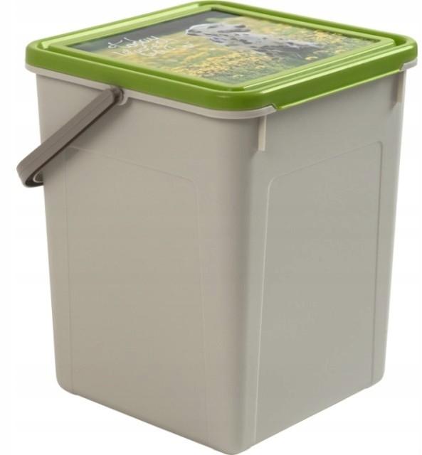 Pojemnik na karmę z uchwytem 7 L /3 kg Fabio zielo