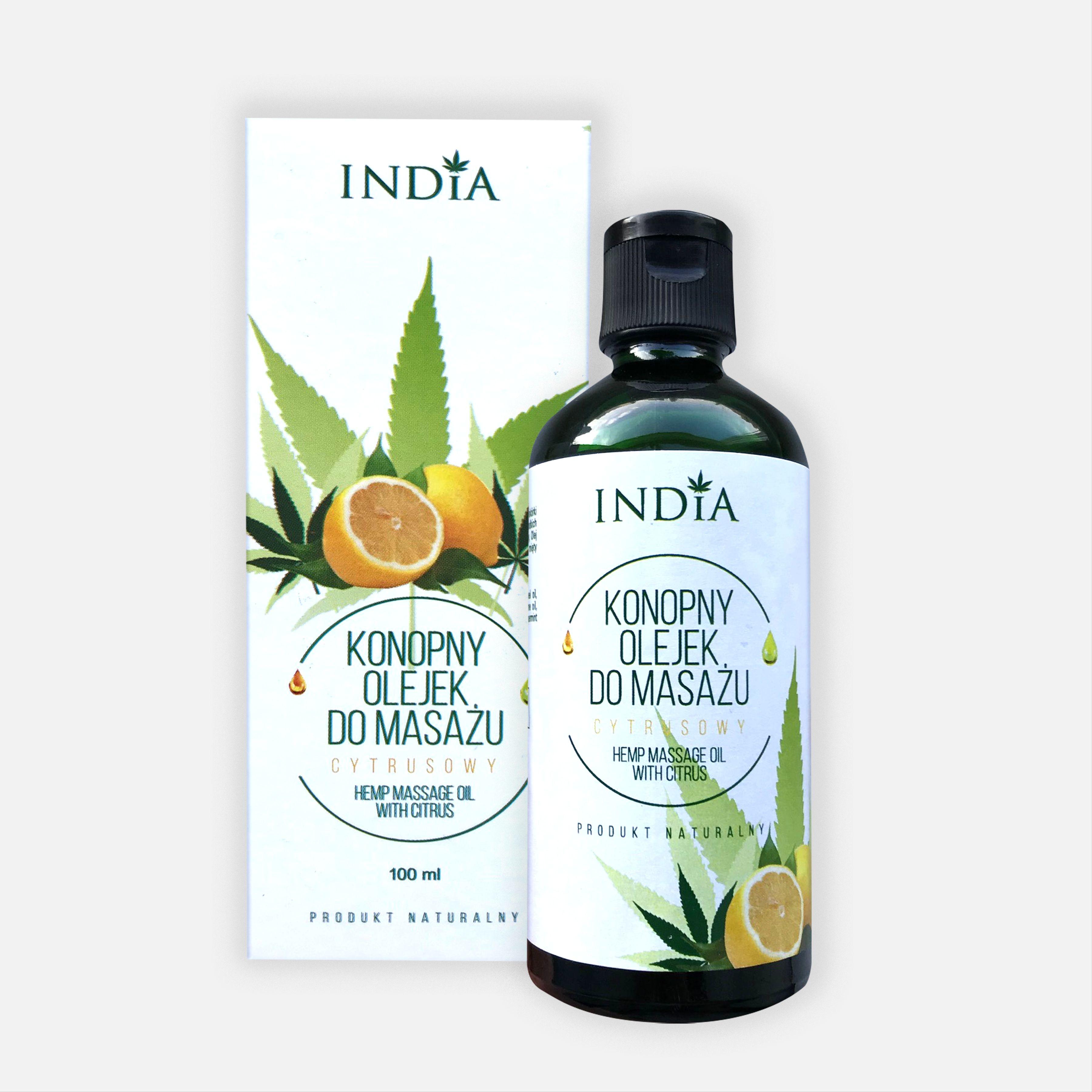 India cosmetics India konopny olejek do masażu cytrusowy 2822-60636