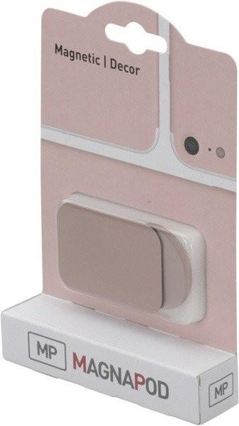 Herbert Richter HR-iMOTION by GmbH & Co MAGNAPOD zestaw dwóch samoprzylepnych płytkek magnetycznych w kolorze różowego złota