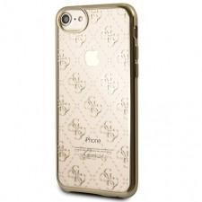 Guess Etui Signature 4G iPhone 8, złote 3700740424759