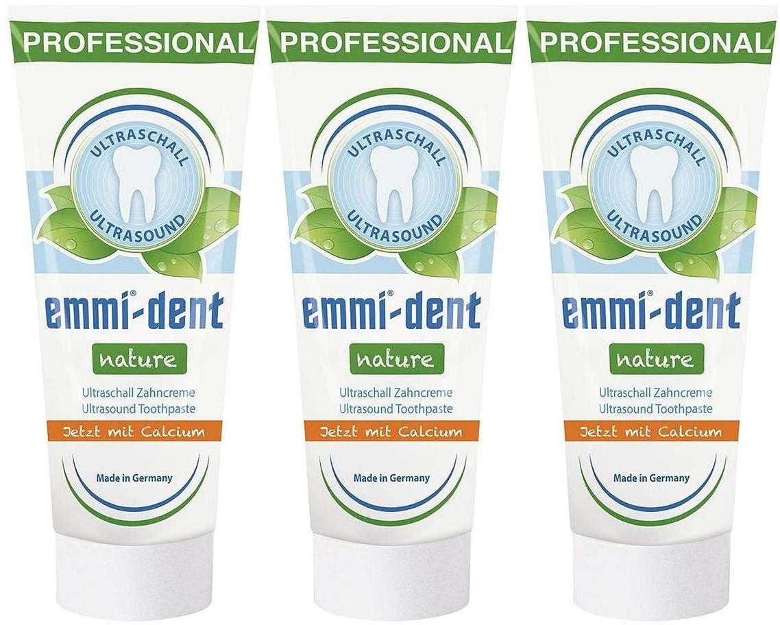 Emag Trójpak Emmi-dent Nature Calcium - pasta bez fluoru i parabenu do szczoteczek ultradźwiękowych Emmi-dent Nature Calcium