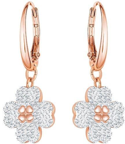 Swarovski Latisha Pierced Earrings, White, Rose gold plating White Rose gold-plated