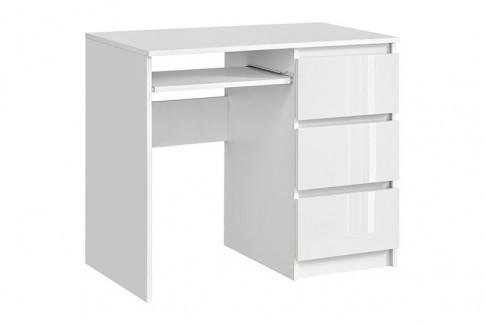 Elior Nowoczesne biurko Luvio 2X - biały połysk