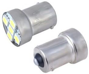 Vision Żarówka VISION P21W BA15s 12V 5x 5050 SMD LED biała 2 szt WE13-9843