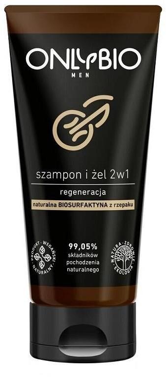 OnlyBio Men regenerujący szampon i żel 2w1 z olejem ze słonecznika 200ml 68697-uniw