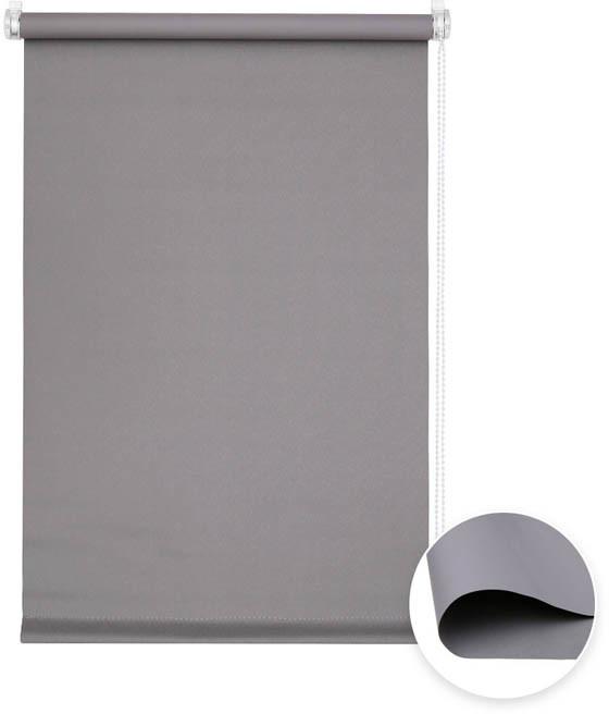 Victoria-M Roleta materiałowa bezinwazyjna, Przyciemniająca, Gotowa, BASIC, szara, 40x100 cm