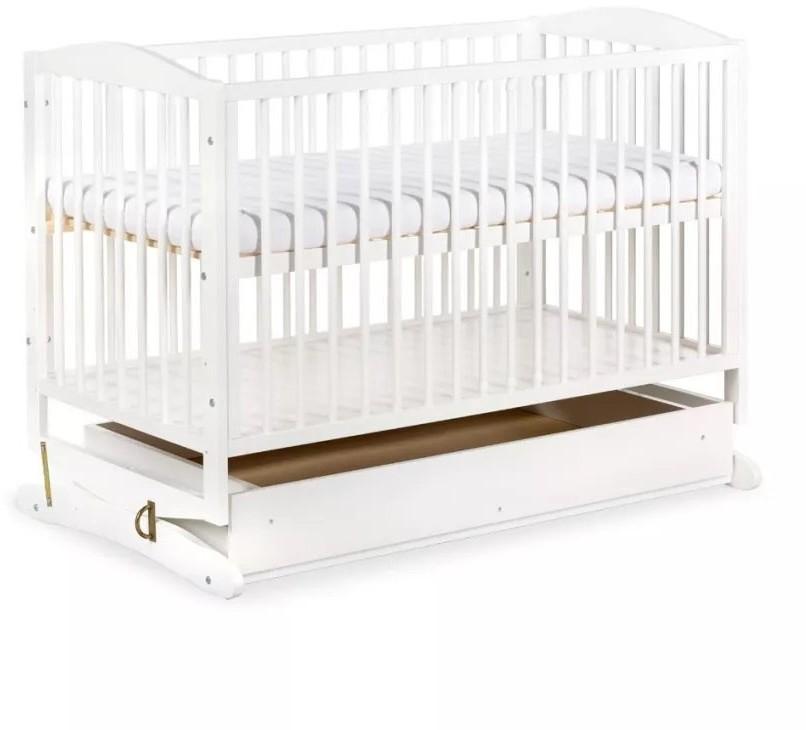 Klupś Łóżeczko dziecięce 120x60 Henry białe kołyska szuflada