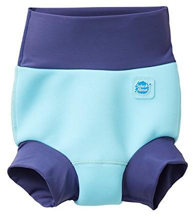 Splash About Happy Nappy pieluszka do kąpieli dla dzieci, nowy ulepszony model, niebieski, 612 miesięcy HNPBPL