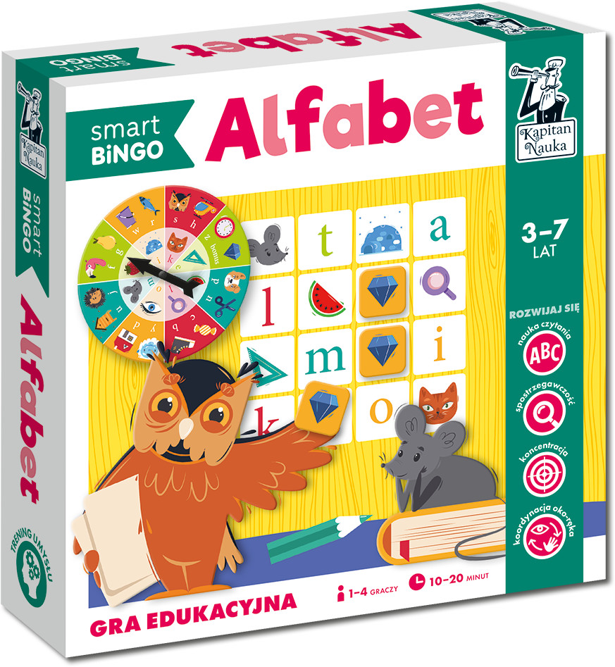 Kapitan Nauka Smart Bingo. Alfabet