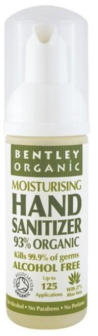 Bentley Organic Naturalna Antybakteryjna Pianka do Mycia Rąk, Bezzapachowa, 50ml 843389000175