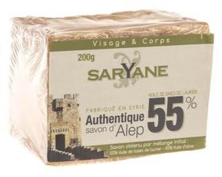 ALEPPO Saryane Mydło w kostce 55% oleju laurowego 200 g Saryane SAAB-060701