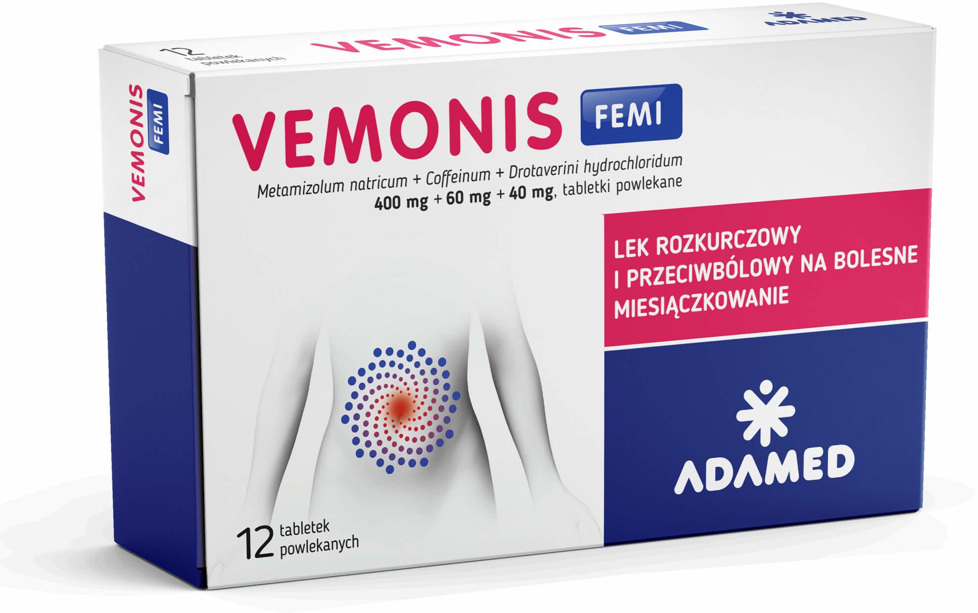 ADAMED Vemonis Femi x 12 tabl | DARMOWA DOSTAWA OD 199 PLN!
