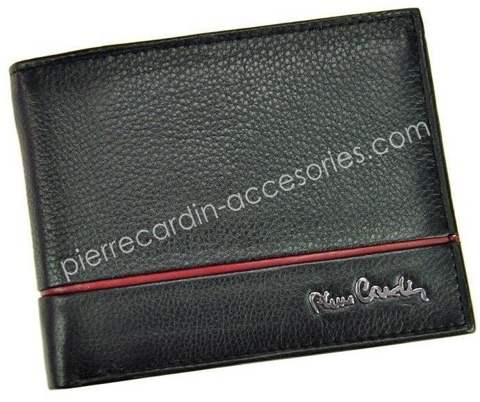 Pierre Cardin Portfel Męski Tilak15 8805 RFIDCzer. - czarny + czerwony SAHARA TILAK15 8805 RFID czarny + czerwony-0