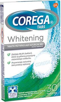 GlaxoSmithKline Corega Tabs Whitening tabletki czyszczące 30 szt 9081576
