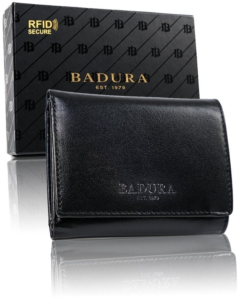BADURA Mały portfel damski ze skóry naturalnej licowej