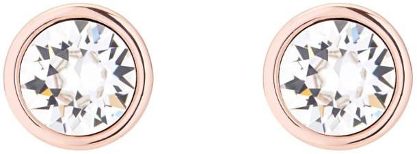 Karen Millen kolczyki na sztyfcie, szkło kryształowe, stop metalowy, różowe złoto KMJ189-24-02