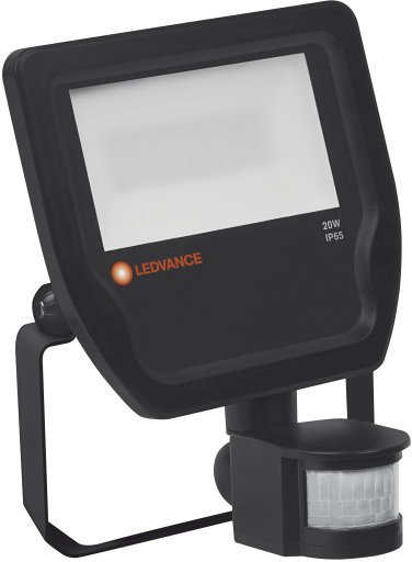 Ledvance ospel Naświetlacz LED Floodlight 20W/4000K b.neutralna 2200lm IP65 Black Sensor OSRAM - 4058075143555