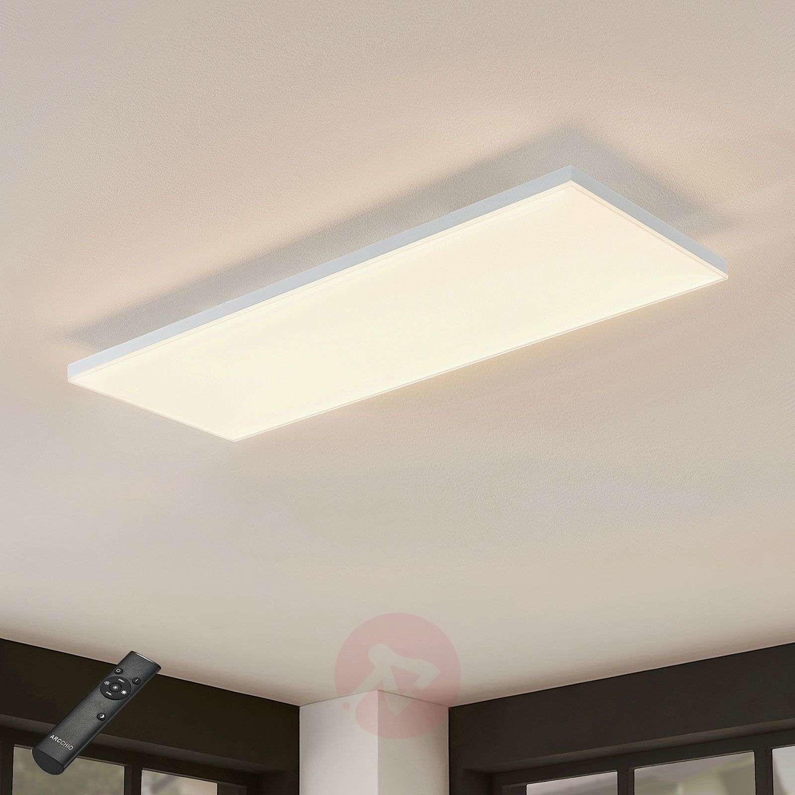 Lampenwelt com Panel LED Blaan CCT z pilotem 79,5 x 29,5 cm
