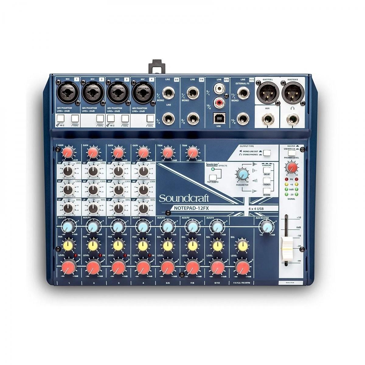 Soundcraft Notepad 12FX mikser audio