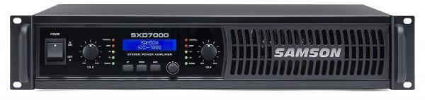 Samson SXD7000 - wzmacniacz mocy 2 x 550W/8 , 2 x 1000W/4, DSP - EQ, Limiter, Delay. XLR -Jack / Speakon - zaciski