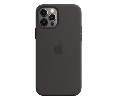 Apple Silikonowe etui iPhone 12 12Pro czarne