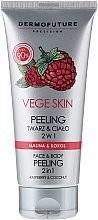 DERMOFUTURE DERMOFUTURE Vege Skin Face & Body Peeling 2in1 Raspberry & Coconut 200ml