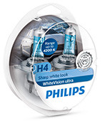 Philips Żarówka 12V H4 6055W P43T-38 WHITEVISION ULTRA OPK 2 SZT