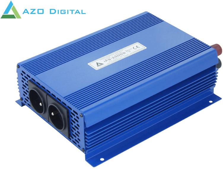Azo Digital Przetwornica napięcia 12 VDC / 230 VAC ECO MODE SINUS IPS-2000S 2000W (4PRZYUE32)