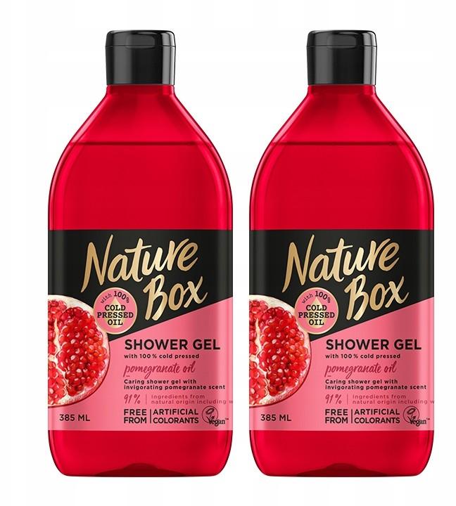 Nature Box żel pod prysznic olejek z Granatu 2 szt