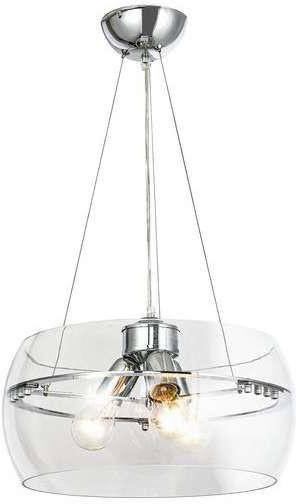 Zuma Line Skandynawska LAMPA wisząca MERANO RLD931031-3 szklana OPRAWA okrągły ZWIS loftowy chrom przezroczysty RLD931031-3